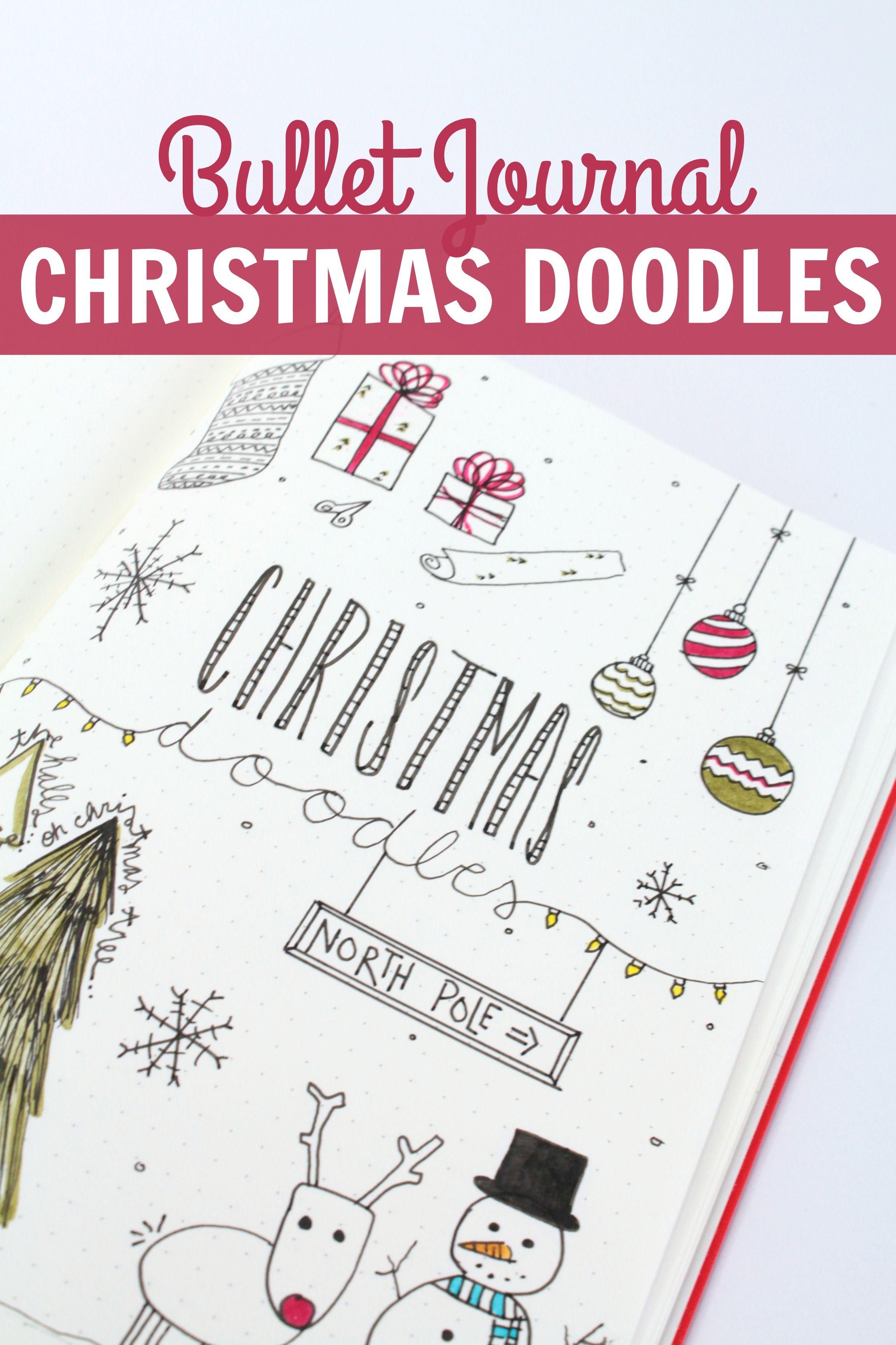 bullet journal christmas doodles christmas tree presents stocking more bullet. Black Bedroom Furniture Sets. Home Design Ideas
