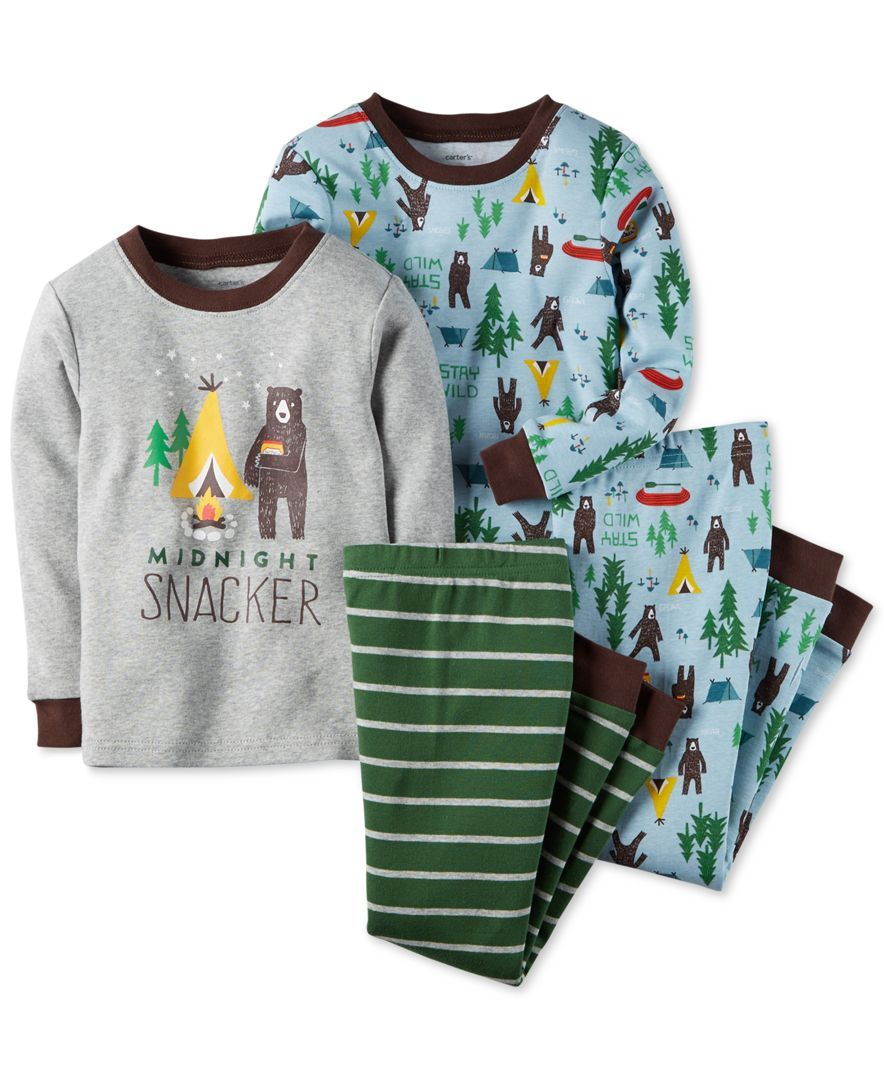 carter s baby boys piece camping pajamas we love camping carter s baby boys 4 piece camping pajamas
