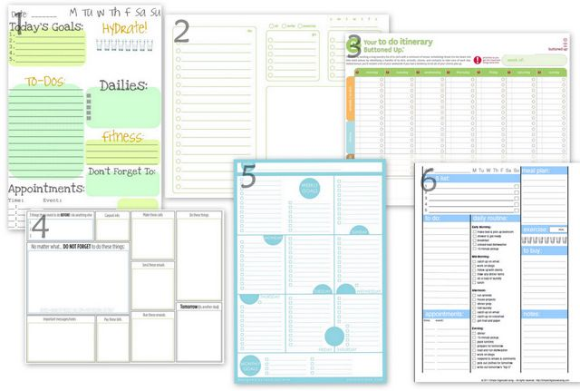 printables daily/weekly...I actually use the first one almost every day