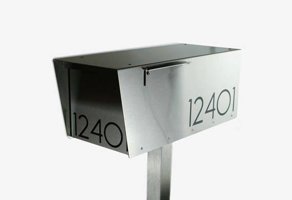 The Minimalist Modern Mailbox Stainless Steel Design Large Size Post Mounted Locking Metal Mount W8821s