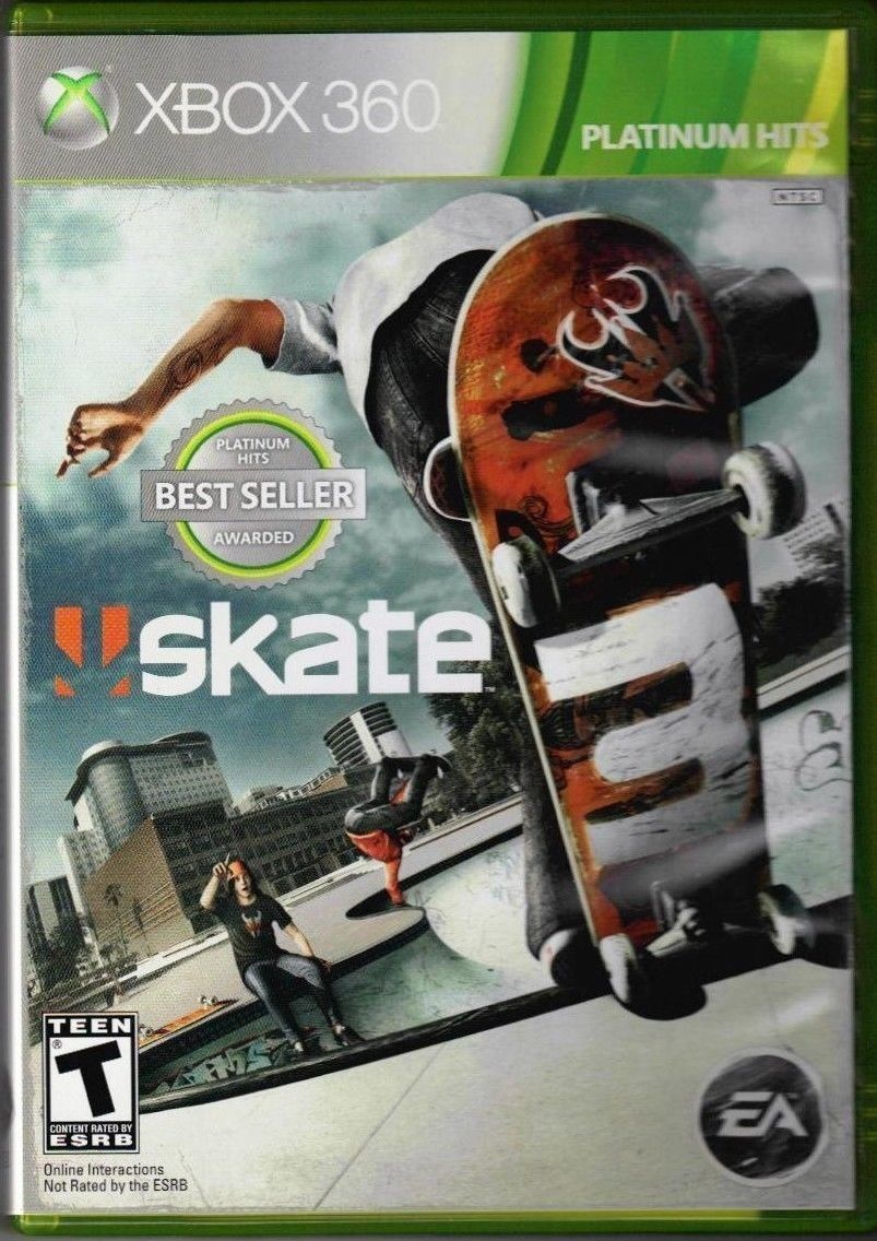 b54ae40e4 Skate 3 (Microsoft Xbox 360, 2010) GAME DISC AND CASE RATED T SKATEBOARDING  GAME