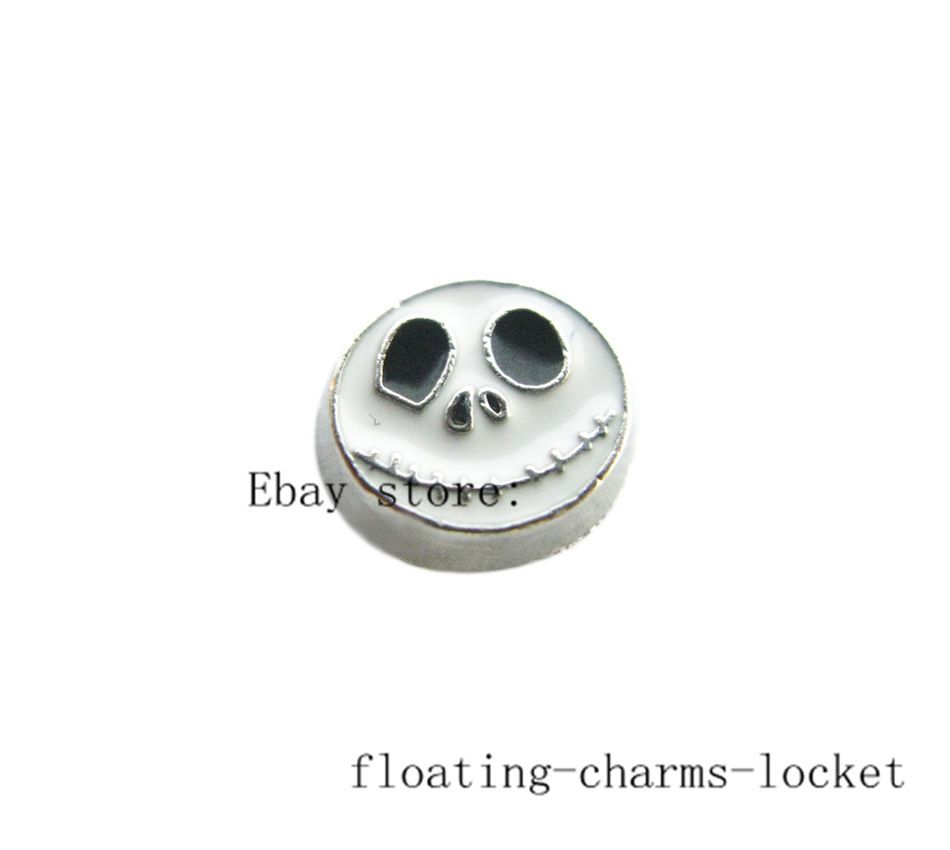 10pcs Halloween jack skellington Floating charms For Glass living Locket FC669 #LocketCharms