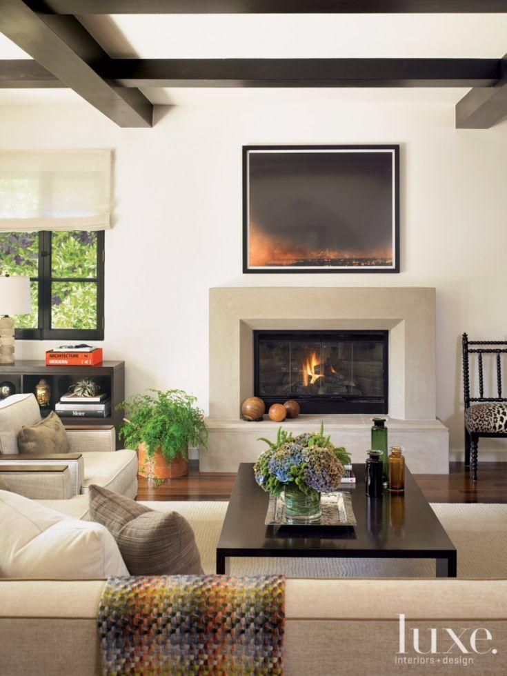 Geometric Contemporary Neutral Living Room