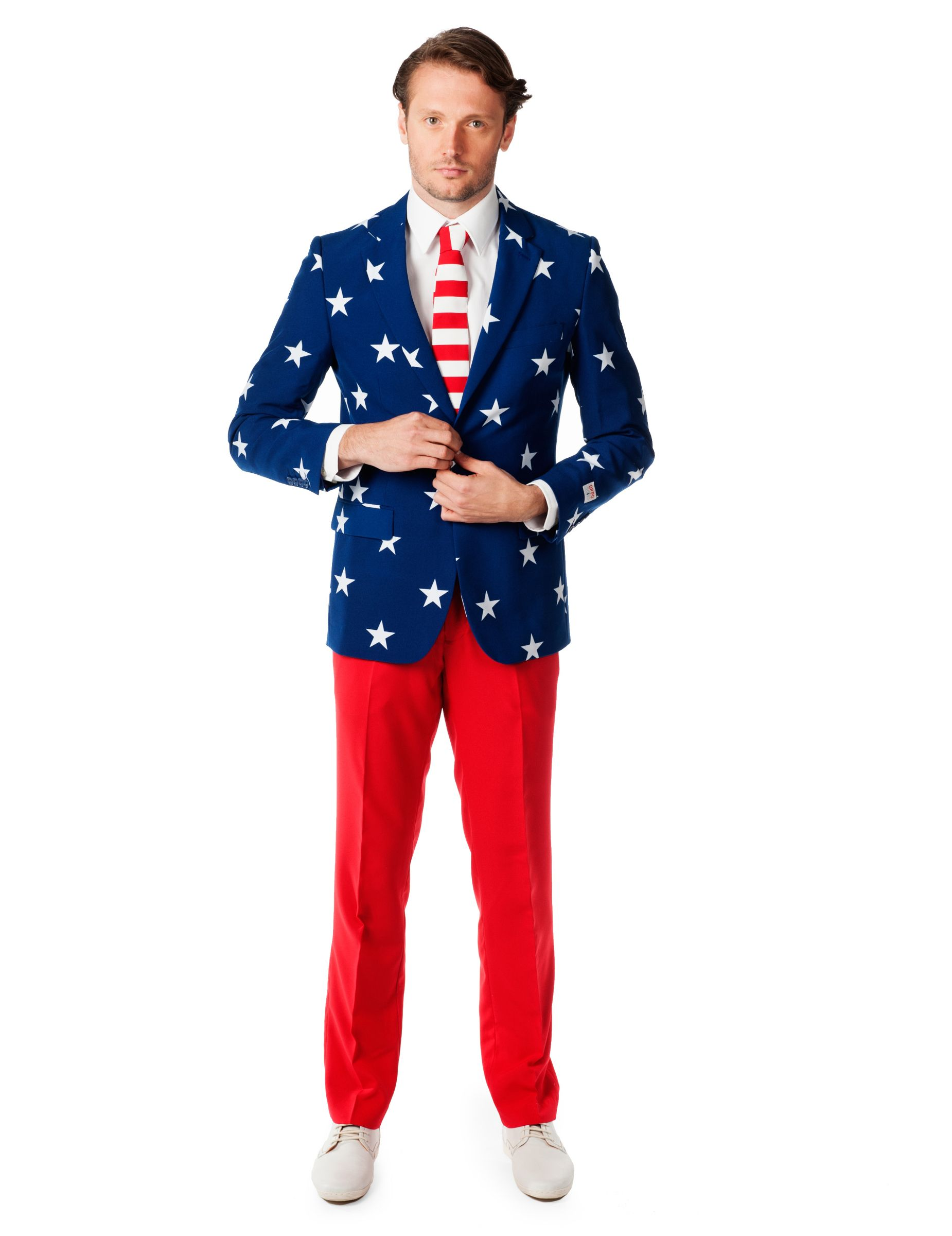 USA Opposuits™ costume for men | Red pants, Fit star, Party