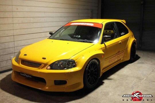 Widebody Ek9 By M M Honda Honda Civic Hatchback Honda Civic