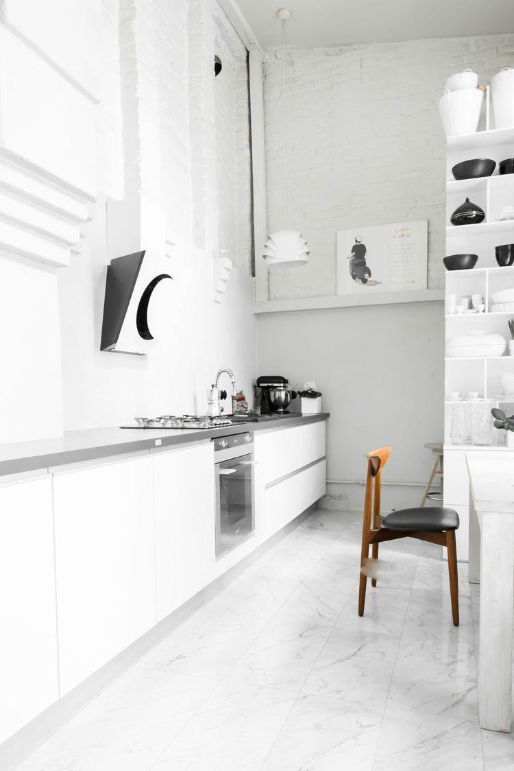 Modern Polish Farmhouse Contemporary Kitchen Design Minimalist Home Decor White Interior