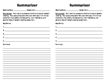 Mini Literature Circle Role Sheets | Literature, Teacher stuff and ...