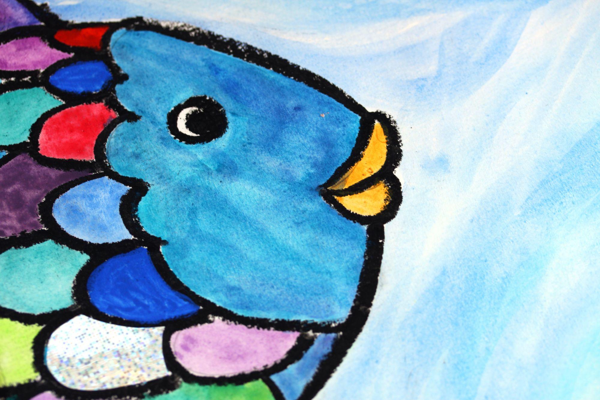 """regenbogenfisch zeichnung """"der regenbogenfisch"""