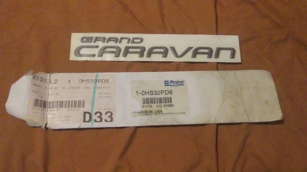 Dodge Grand Caravan 19942000 Emblem Decal Nameplate
