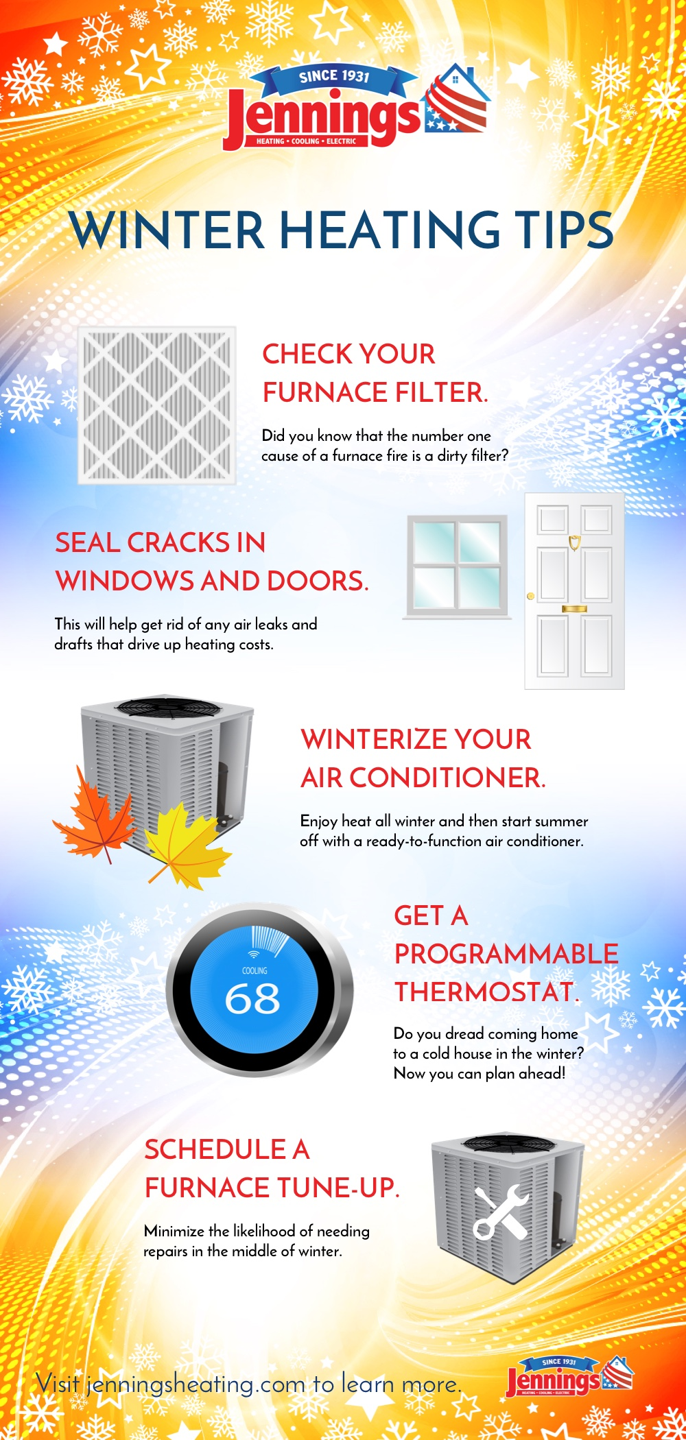 Winter Heating Tips Heating And Cooling Heat Heating Services
