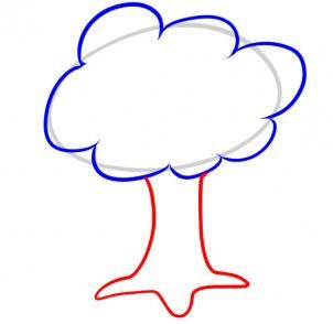 How to Draw a Tree For Kids, Step by Step, Trees, Pop Culture, FREE ...