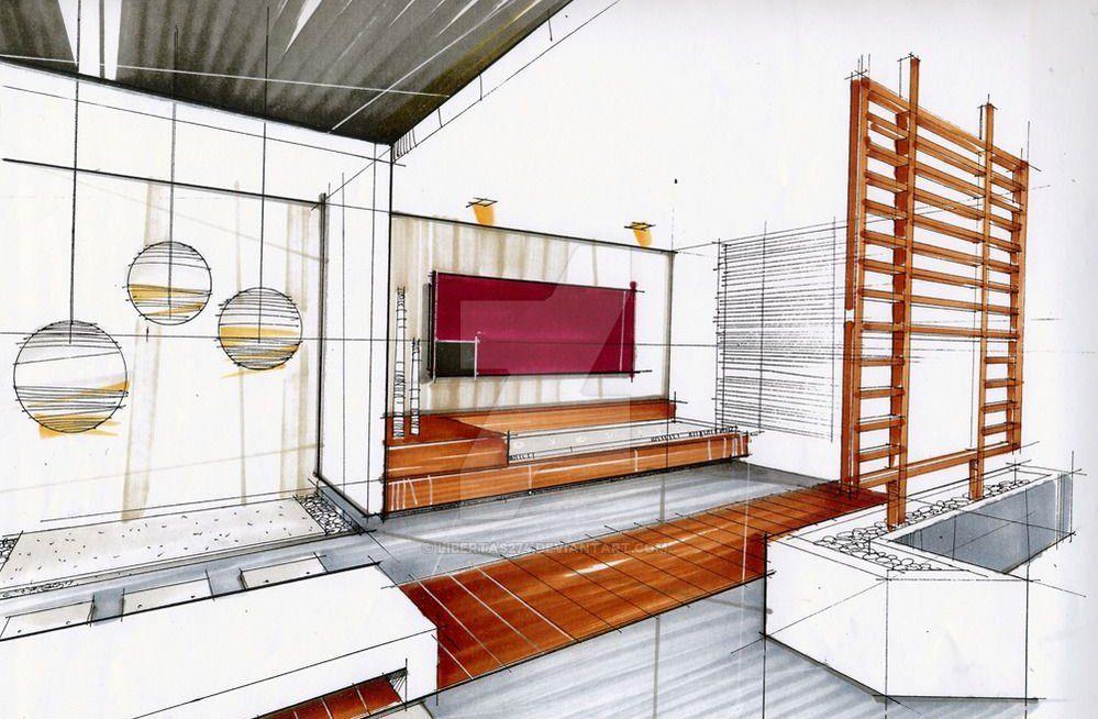 Interiordesign Interior Rendering Drawing Interior Design