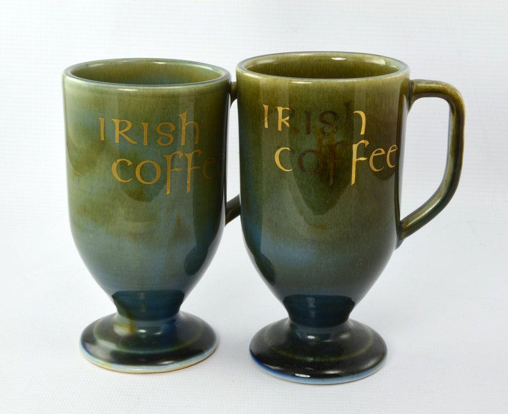 Six Vintage Wade Irish Porcelain Irish Coffee Mugs Cups $68 00 via