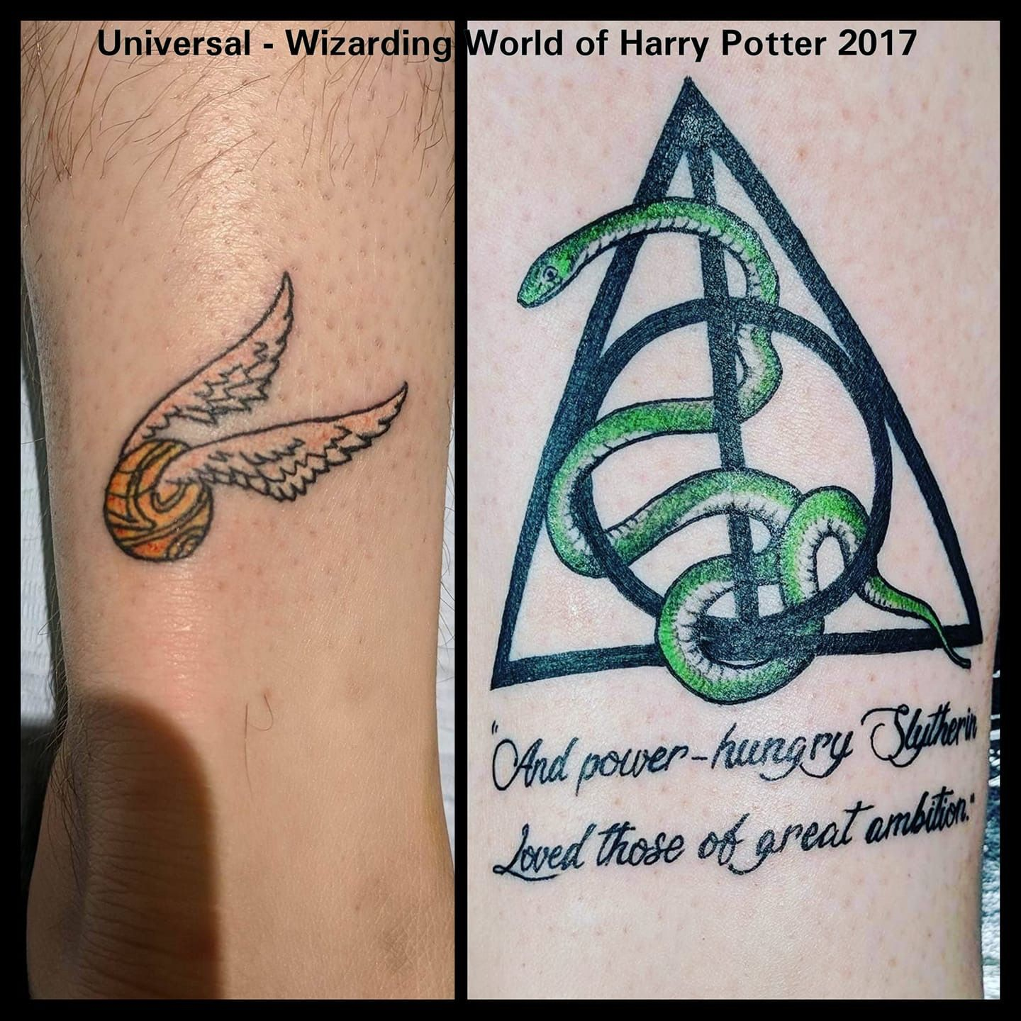 Harry Potter Tattoo Tattoo Golden Snitch Slytherin Hogwarts Snake Deathly Hollows Harry Potter Tattoo Harry Potter Symbols Harry Potter Book Quotes