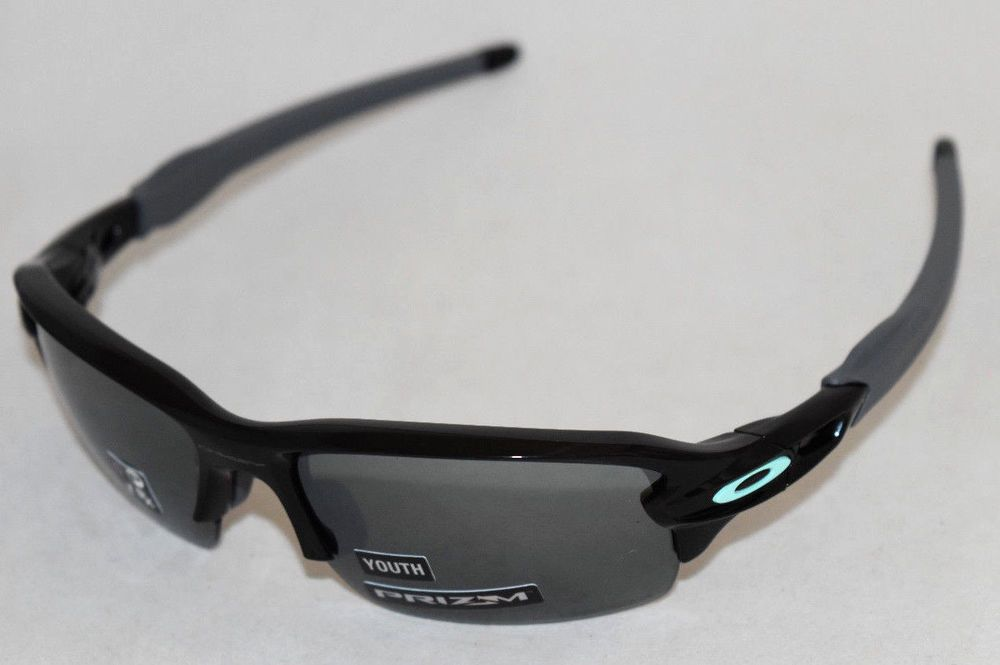 4202ce65d9 eBay  Sponsored NEW OAKLEY FLAK XS OJ9005-0159 YOUTH FIT BLACK W  PRIZM  BLACK IRIDIUM LENS