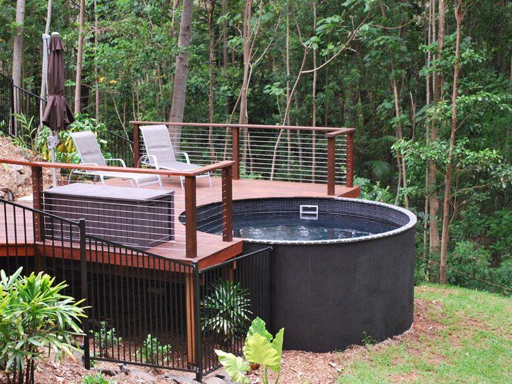 14 000ltr Plunge Pool Allcast Precast Concrete Tank Sunshine