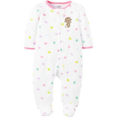 0716968800b1 Child of Mine By Carters Newborn Baby Girl Terry Sleep And Play ...