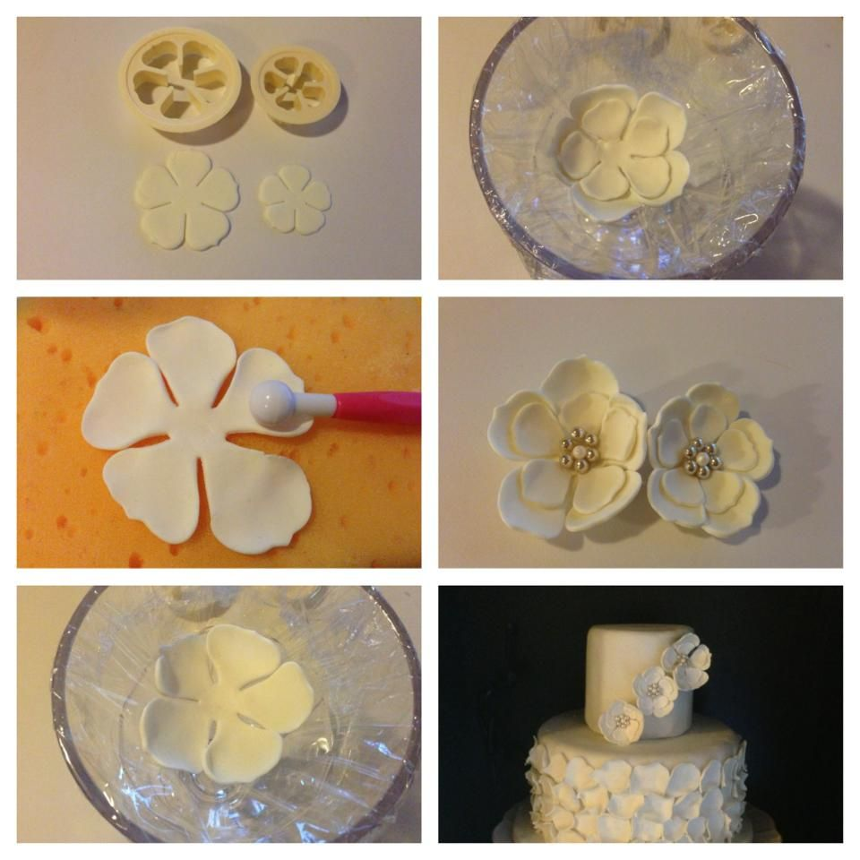 easy gum paste flower bl tenpaste einfache blumen und wahlen. Black Bedroom Furniture Sets. Home Design Ideas