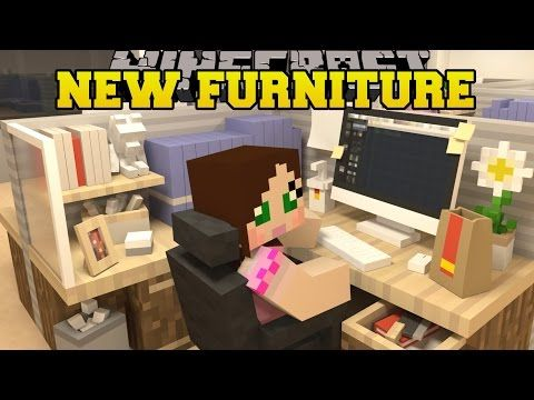 Minecraft New Furniture Computer Oven Washing Machine Desk