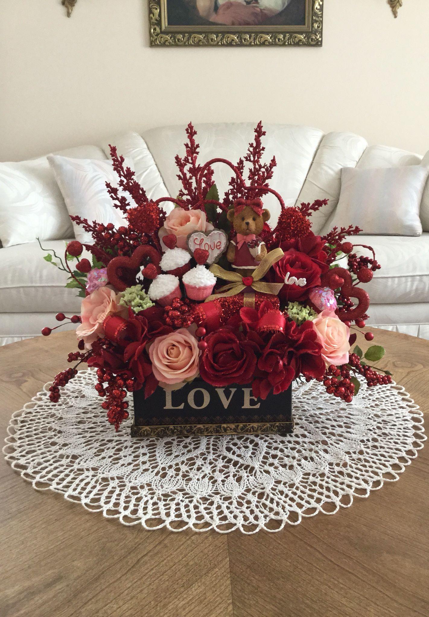 Valentine S Day Silk Floral Arrangement Valentine S Day