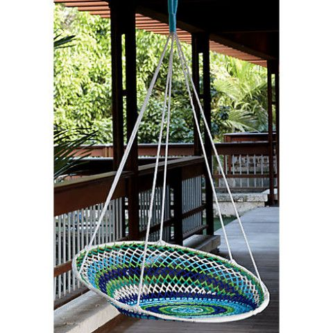Outdoor Living Spaces: A Little Brazilian Inspiration  {#CB2NovogratzBrasilSweepstakes. Patio SwingSwing ChairsHanging ...
