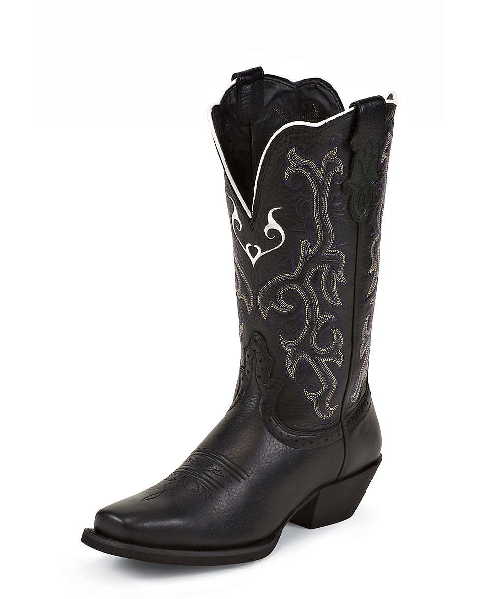 Black Cowboy Boots Womens - Cr Boot