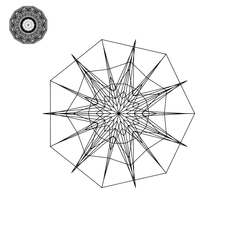 Mandala Monogram Frame Svg In