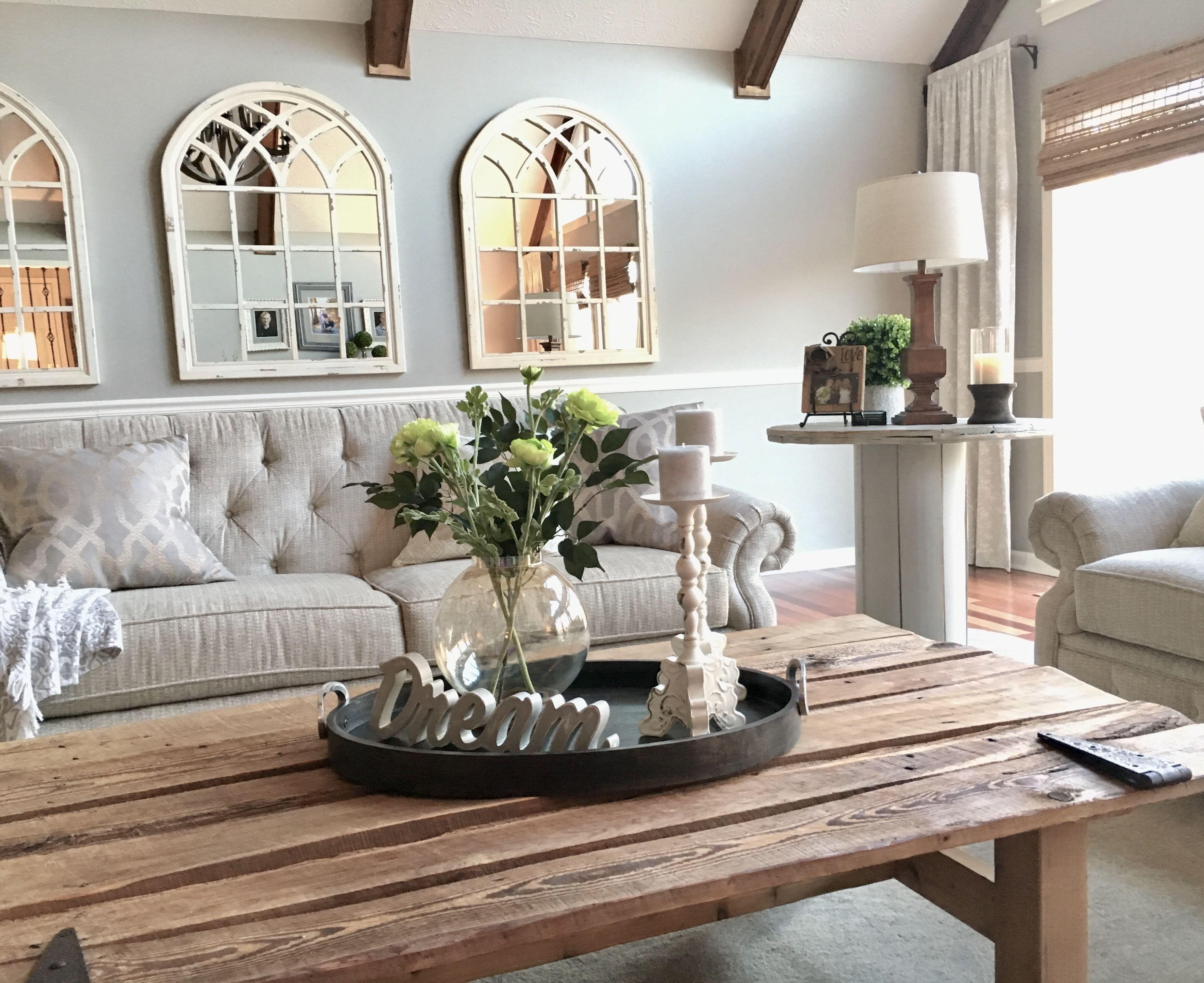 Farmhouse barn door coffee table. Easy diy project! in 2019 | Door coffee tables, Dinning room ...