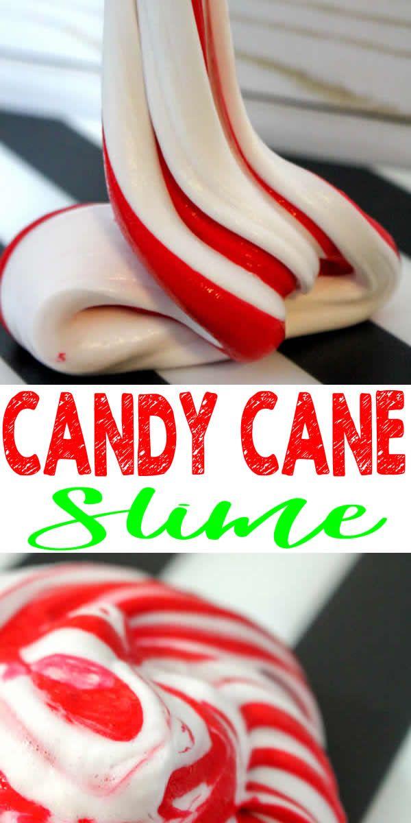 Homemade Candy Cane Slime