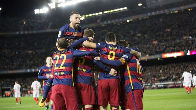 We're FC Barcelona and we're going all out!