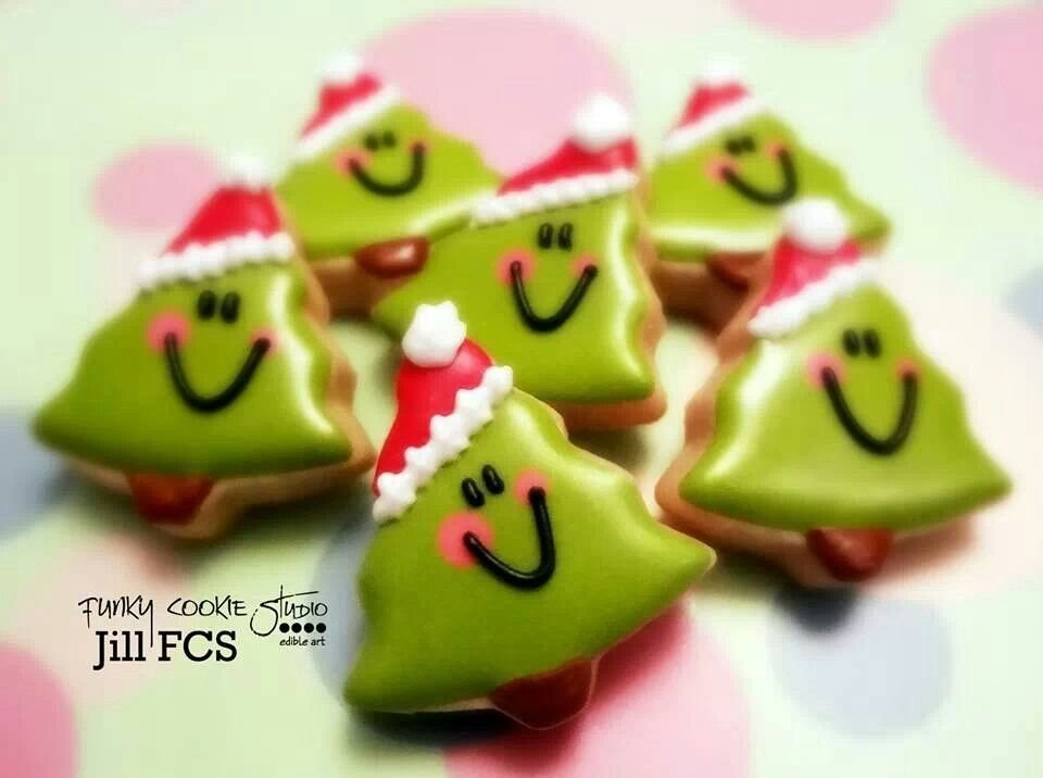 Adorable Christmas tree cookies | Jill FCS