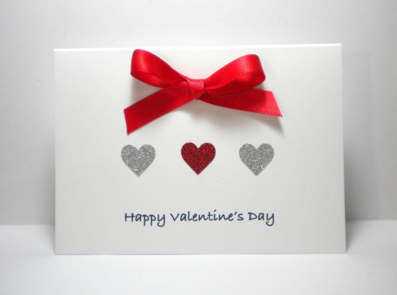 Handmade Valentine S Day Card Happy Valentine S Day Children Son Daughter Sister Bff Teacher Happy Valentines Day Valentine Day Cards Valentines Cards