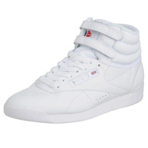 Freestyle Hi - Zapatillas de cuero para mujer, color blanco (white/silver), talla 34 Reebok