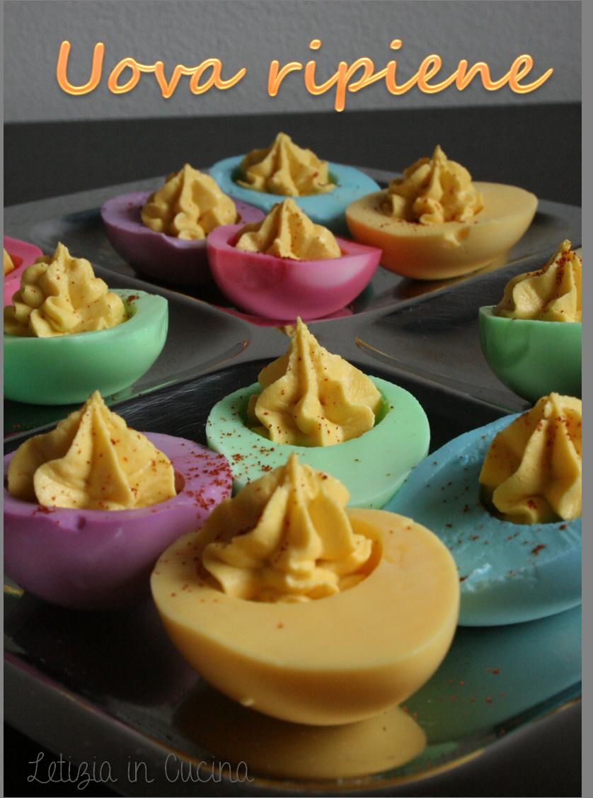 Uova ripiene colorate | Letizia in Cucina | Retete | Pinterest ...