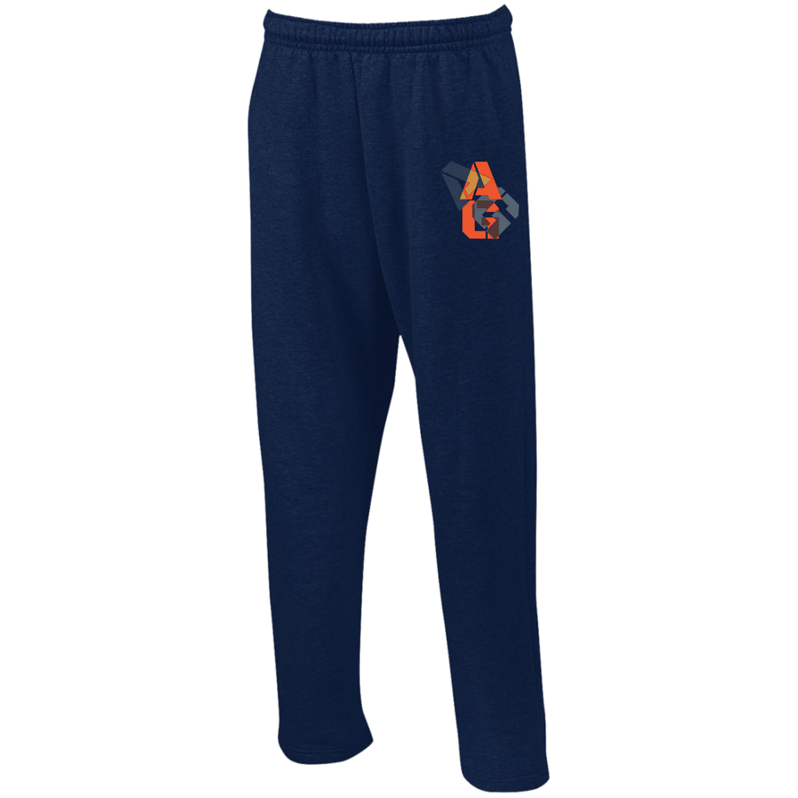 G123 Gildan Open Bottom Sweatpants with Pockets
