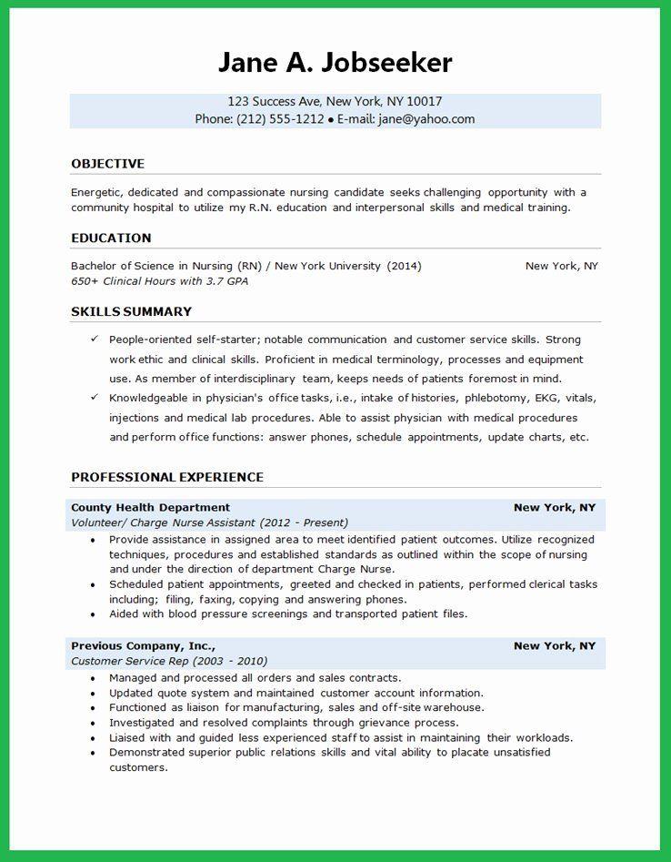 31++ New graduate resume objective Resume Examples