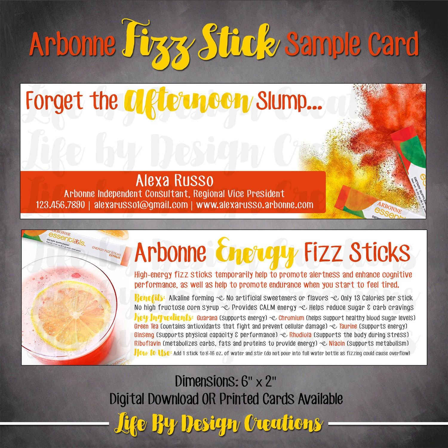 Arbonne Fizz Stick Sample Card  Download By Livealifebydesign On