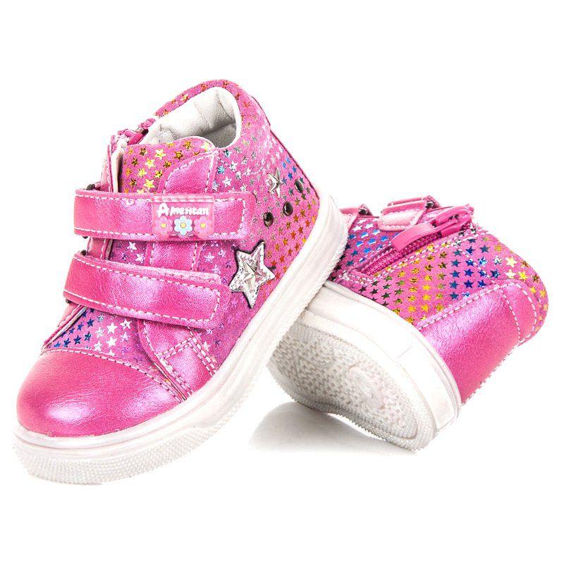 Buty Sportowe Dzieciece Dla Dzieci Americanclub Rozowe Sportowe Buciki W Gwiazdki American Club Baby Shoes Shoes Fashion