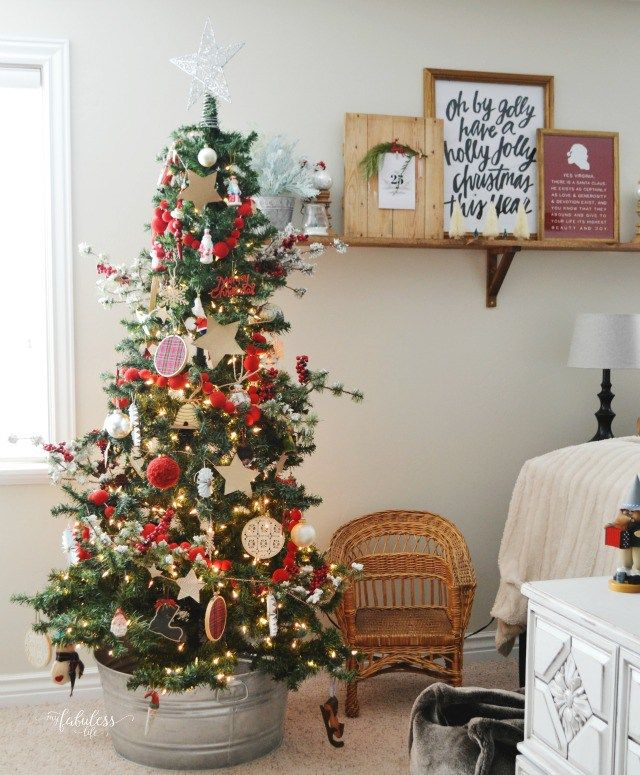 10 Simple Things You Need For A Farmhouse Christmas Small Christmas Trees Christmas Home Farmhouse Christmas Decor