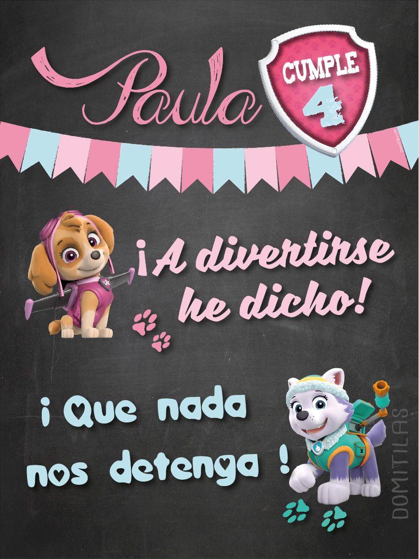 Cumpleaños Patrulla Canina Paw Patrol Invitacion