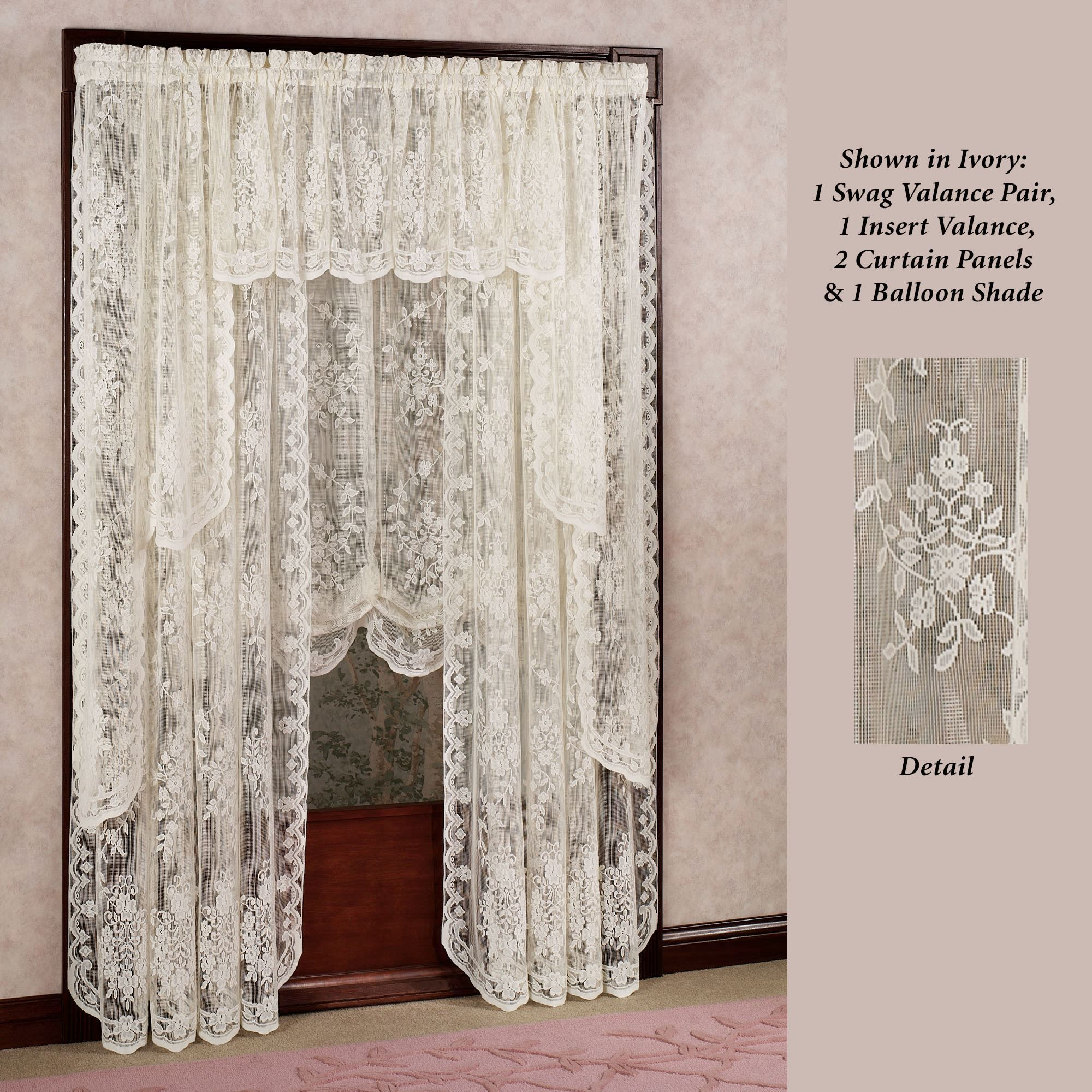 Fiona Scottish Lace Window Treatment In 2020 Lace Window Treatments Lace Window Lace Curtains