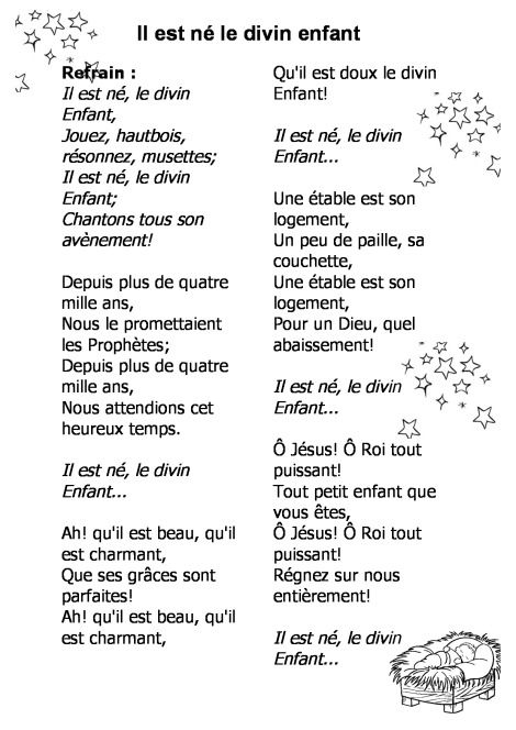 Entre Le Boeuf Et L âne Gris Il Est Né Le Divin Enfant Mon Beau