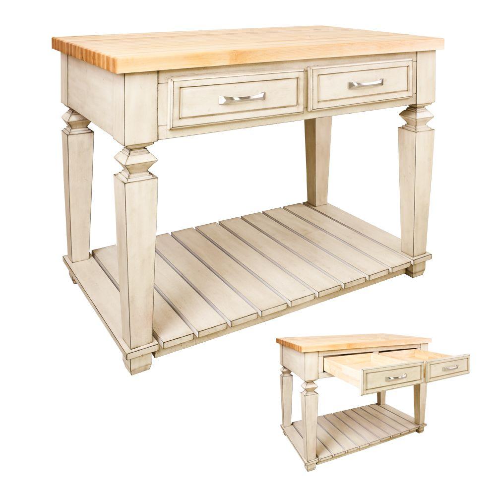 Furniture Style Antique White Kitchen