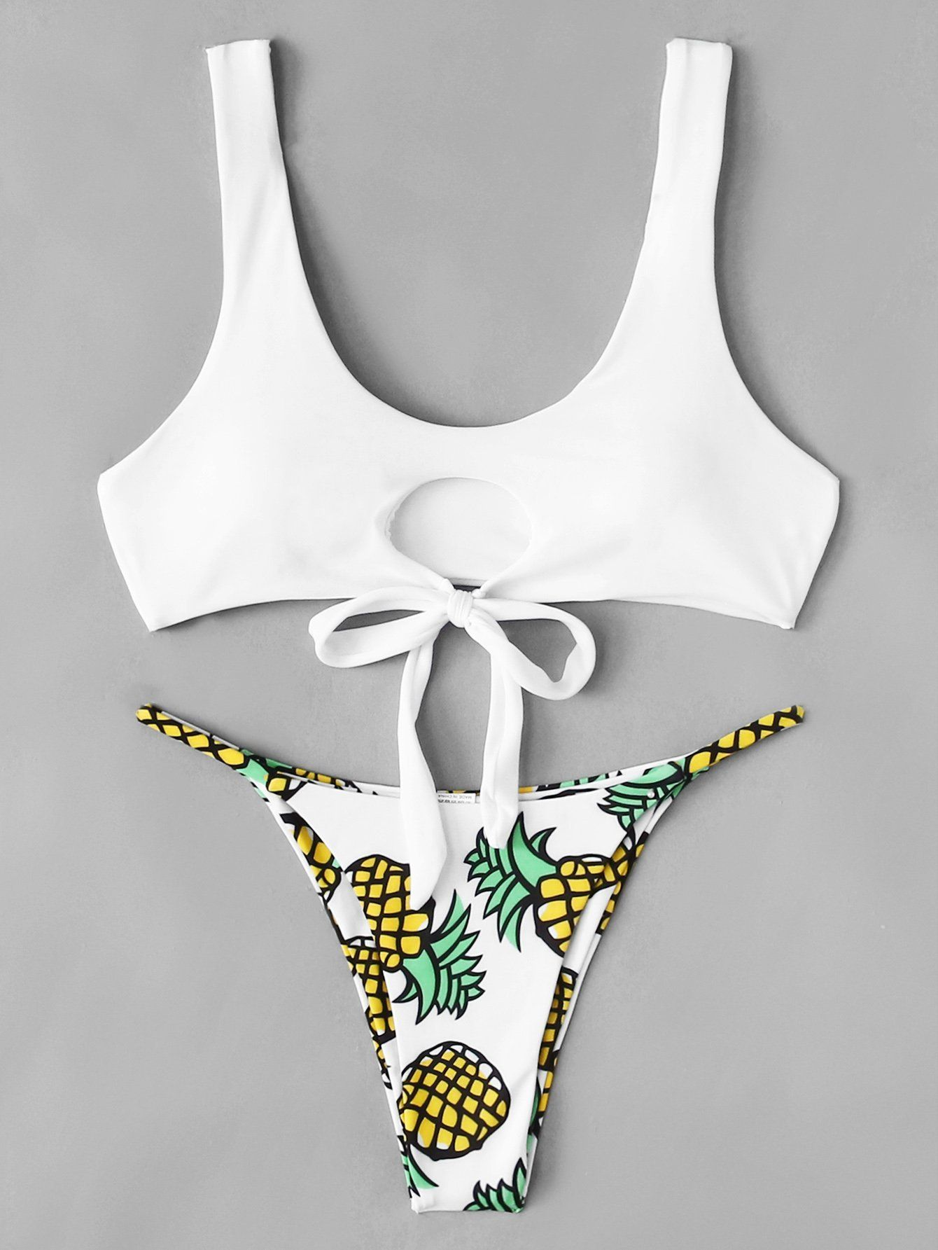 9cc642393 Pineapple Print Bikini Set