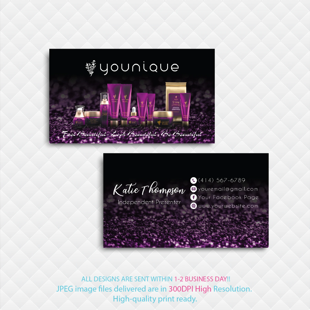 Younique Business Card Personalized Younique Business Card Yq08 Younique Business Cards Younique Business Personal Cards