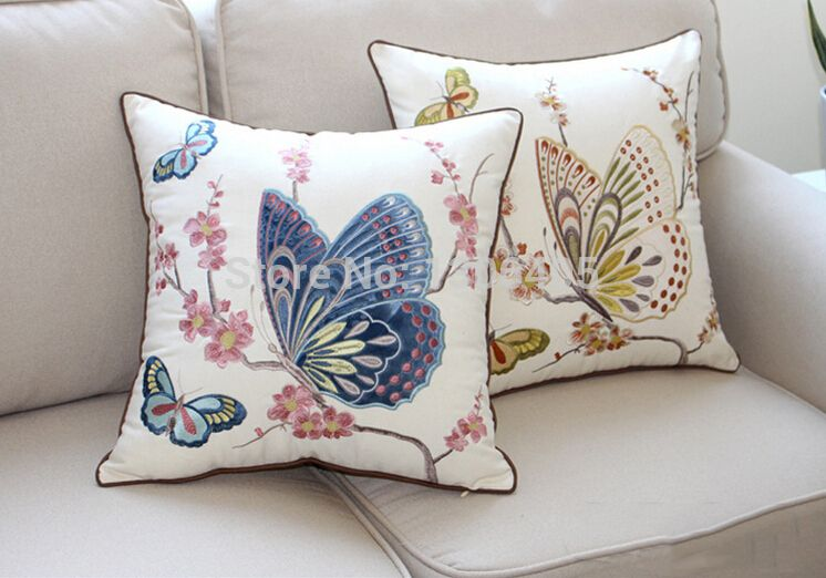 Mariposa Vintage Cushion Covers-Decoración Del Hogar