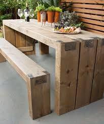 Resultado De Imagem Para Exterior Tables Diy Garden Table Diy Outdoor Table Wooden Garden Furniture