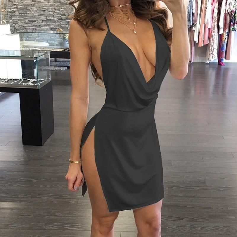 6b45163fb8 Sexy Women Casual Sleeveless Evening Party Cocktail Short Mini Dress