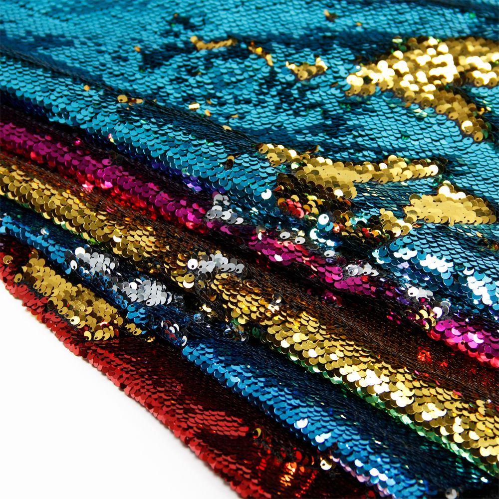 8ffc1a658e Barato 50*145 cm sereia lantejoula sequin reversível tecido escama de peixe  para Crianças Tecido roupa de Cama home textile para Costura Tilda boneca,  ...
