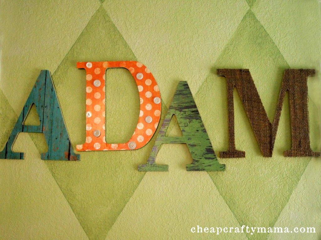 Mod Podge Letters with paper and burlap-- from Cheap Crafty Mama ...